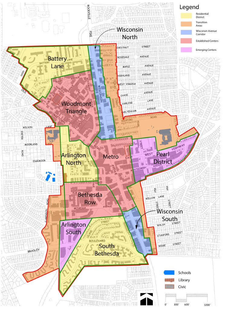 map of bethesda districts