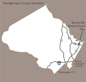 Burtonsville locator map