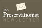 The Preservationist newsletter signup