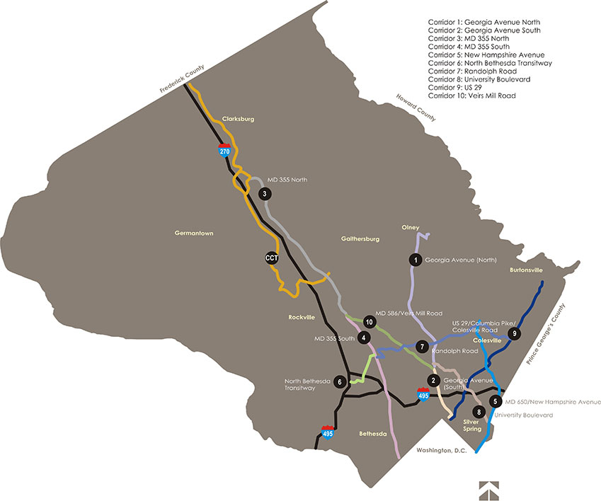 Transit Corridor Network Map