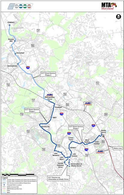 CCT route map
