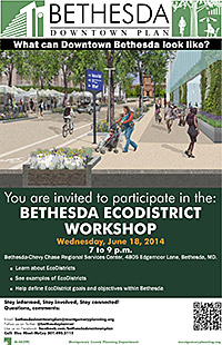 Bethesda Ecodistrict Workshop flyer
