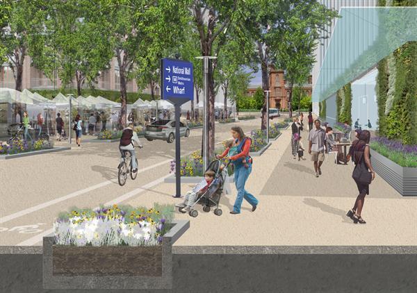 illustration of sidewalks
