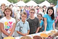 Children at the Farm Market