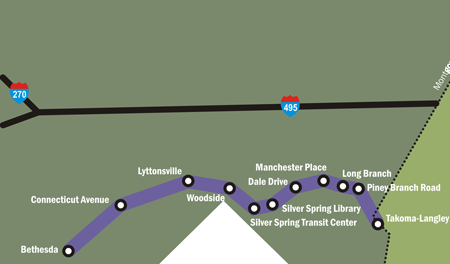 Proposed Purple Line Montgomery County