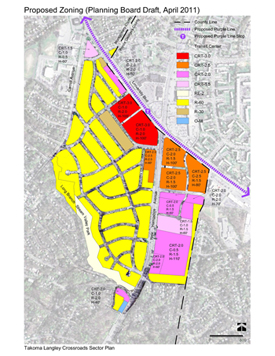 Revised zoning map