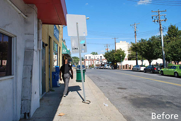 Streetscape before